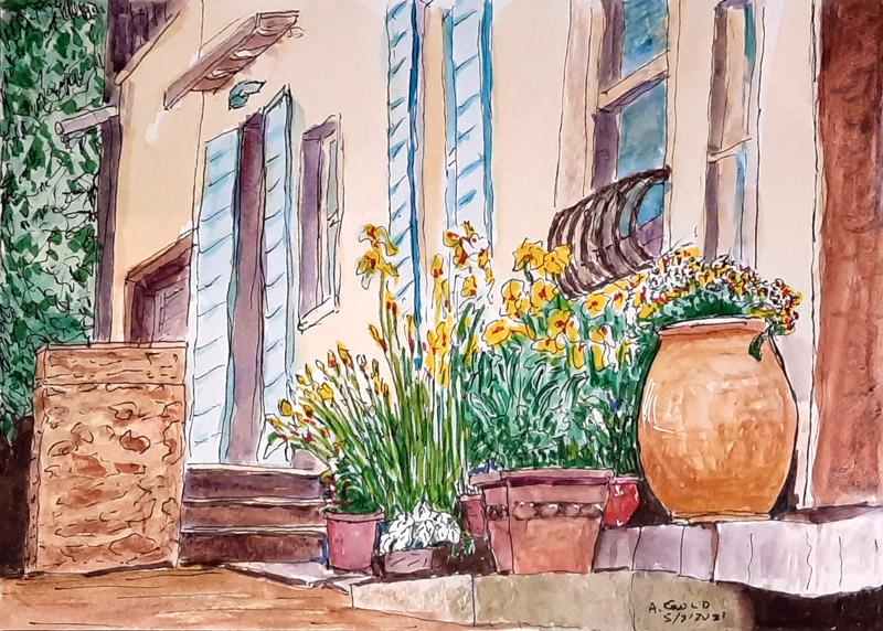 archie - France watercolor